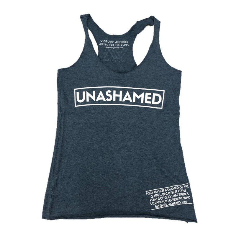 Unashamed Women's Tank (Indigo)-Victory Apparel, Inc.