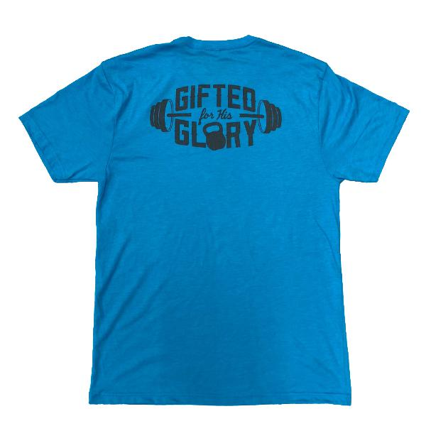 Gifted for His Glory Tee (Vintage Turquoise)-Victory Apparel, Inc.