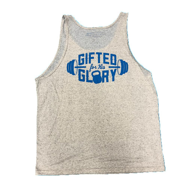 Gifted for His Glory Men's Tank (White Fleck)-Victory Apparel, Inc.