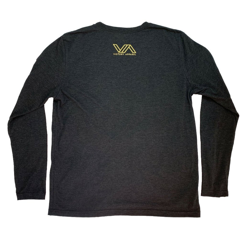 Victory Long Sleeve Tee (Vintage Black & Gold)-Victory Apparel, Inc.