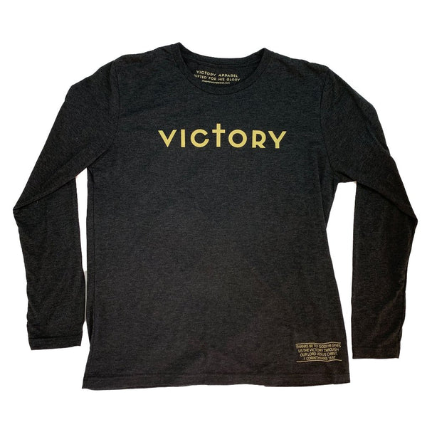 Victory Long Sleeve Tee (Vintage Black & Gold)