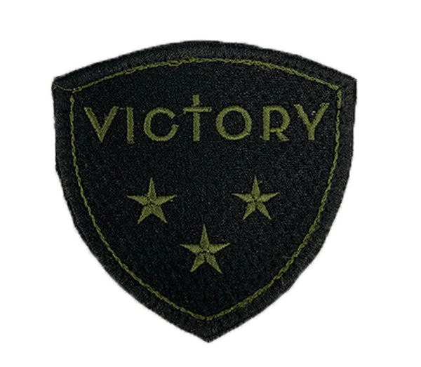 Victory Badge Patch (Black/Military Green)-Victory Apparel, Inc.