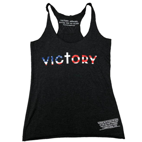 Victory Women's Tank (Vintage Black) | Victory Apparel, Inc.