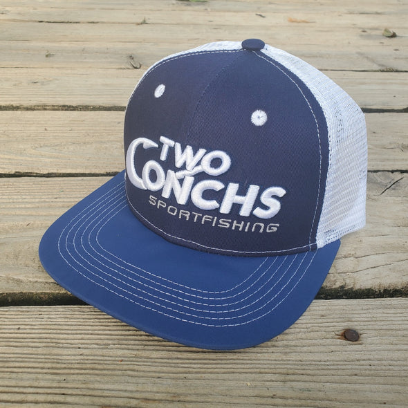 Two Conchs Navy Blue Trucker Hat