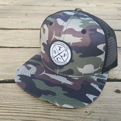 Two Conchs OG Fish Camo Trucker Hat