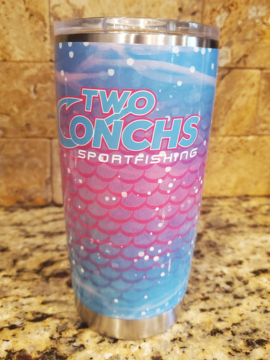 20oz Two Conchs Tumbler w/lid