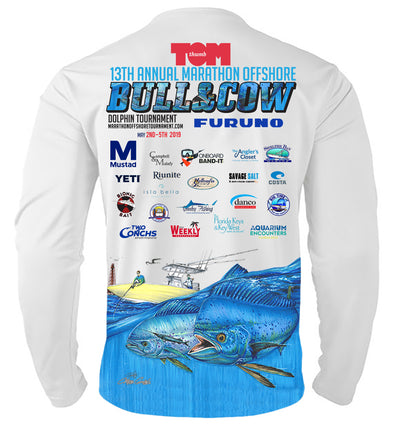 2019 Bull and Cow Long Sleeve Performance Shirt
