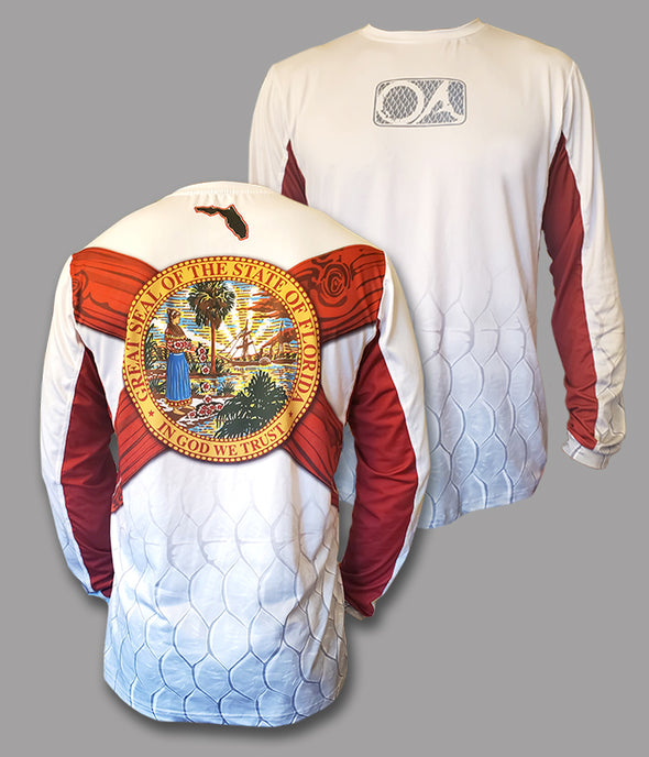 OA Florida Flag Long Sleeve Performance Shirt