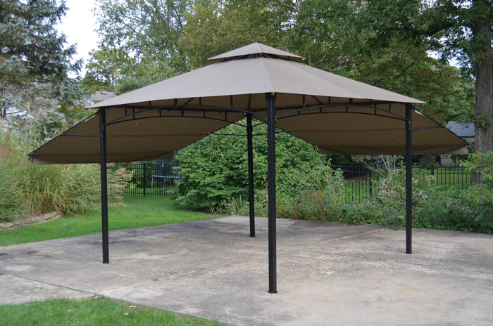 10' x 10' Extending Gazebo Top Ripstop Fabric for models 906618/905436/908309