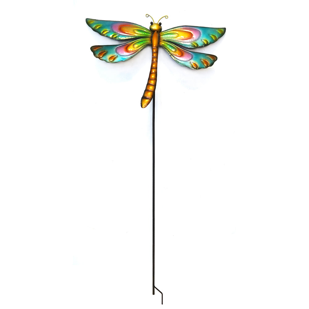 Colorful Metal Dragonfly Decorative Motion Stake