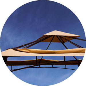 Replacement 10' x 10' Extending Gazebo Top Fabric for model 905158