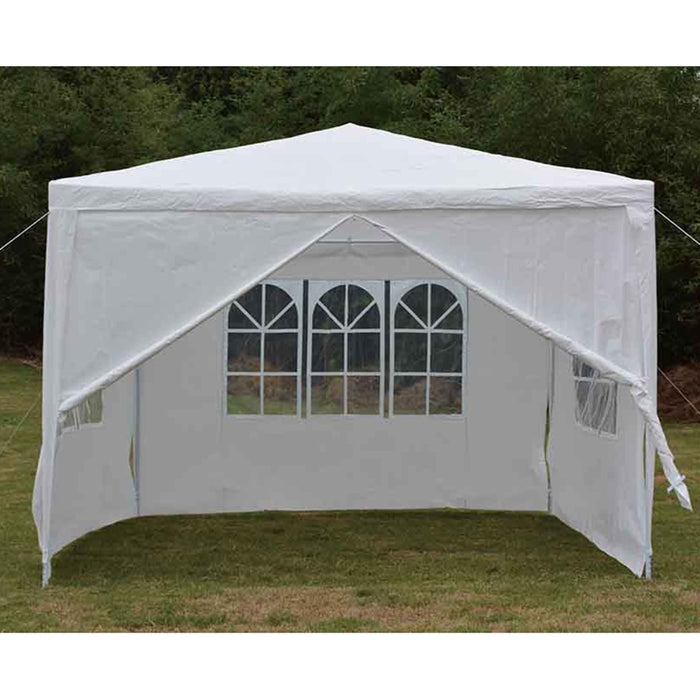 Backyard Expressions 10 Ft. W x 10 Ft. D Steel Party Tent