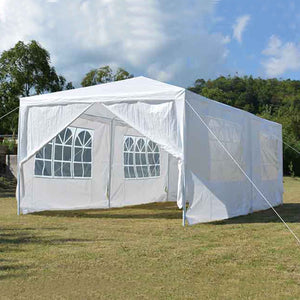 Backyard Expressions 10 Ft. W x 20 Ft. D Steel Party Tent