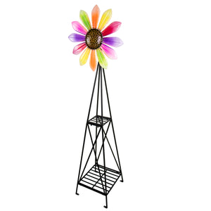 Sunflower Windmill with Mulit Colored Petal Blades