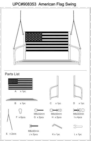 Replacement parts for American Flag Swing