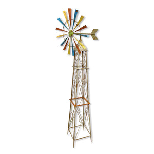 Colorful Rainbow Windmill Garden Decoration