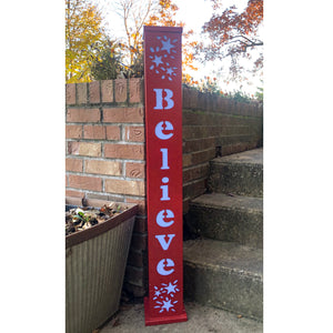 Believe Lighted Pillar