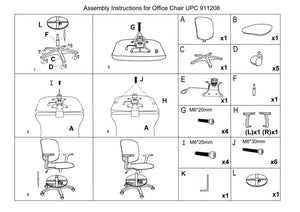 Replacement parts for Bar Height swivel chair