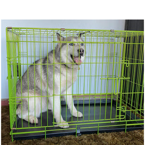 "36""Green Double Door Dog Kennel"