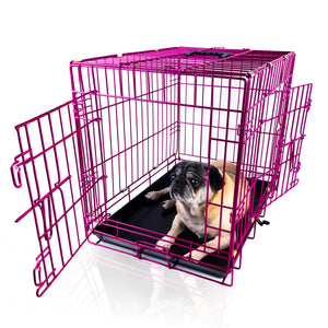 "24""Magenta Double Door Dog Kennel"