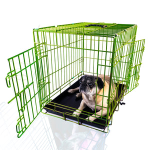 "24""Green Double Door Wire dog Kennel"