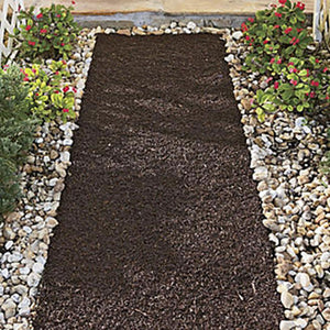 Six Foot Recycled Rubber Reversible Mulch Pathway