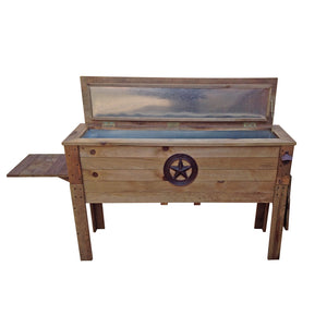 87 Quart Decorative Outdoor Wooden Cooler