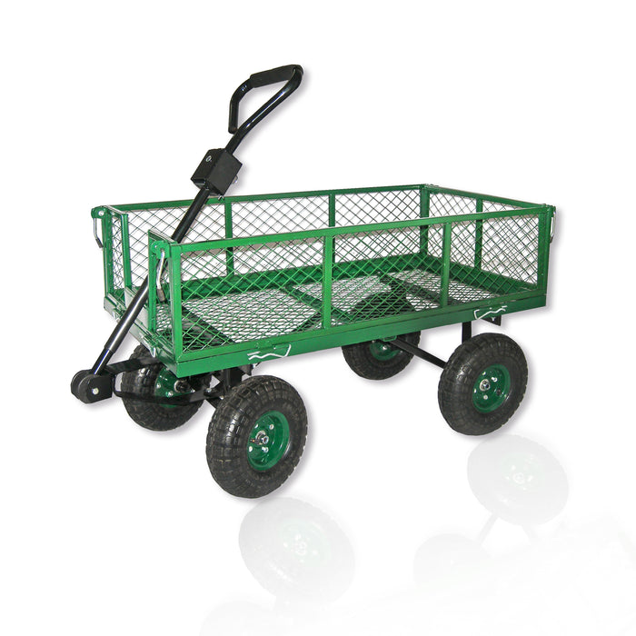 "38"" x 20"" Garden Cart W/ Sides and Pneumatic Tires"