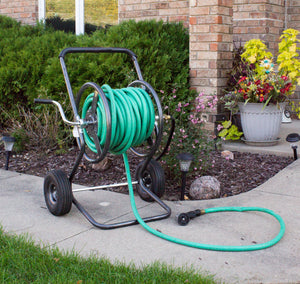 Two Wheel Hose Reel Cart with Leader Hose