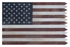 36 Inch Outdoor Wooden American Flag Wall Sign