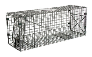 "Humane Way Foldable Metal Animal Trap SM– 32"" L x 12"" H x 10"" W"