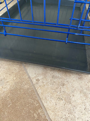 "36""Blue Double Door Dog Kennel"