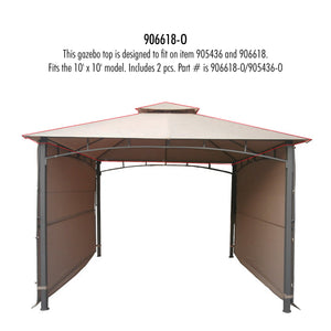 10' x 10' Extending Gazebo Top Fabric for models 906618/905436