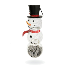 Backyard Expressions | Whimsical Snowman Bird Feeders for Outside Featuring Solar Light | Bonus Ebook and Bird Attraction Audio Included | Squirrel Resistant, Durable & Adorable Bird Feeders