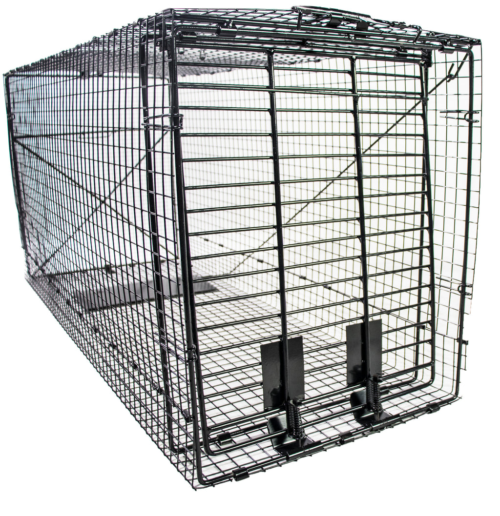 Humane Way Foldable Metal Animal Trap - 50 Inch x 20 Inch x 26 Inch