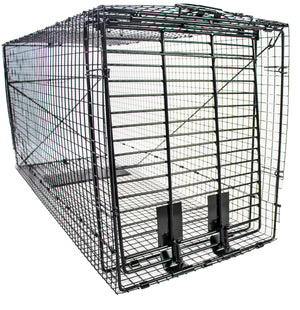 Humane Way Foldable Metal Animal Trap XL - 50 Inch x 20 Inch x 26 Inch