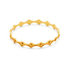 Julie Vos - Charleston Stacking Bangle, Julie Vos - Charleston Stacking Bangle, Gold / Medium