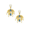 Julie Vos - Clara Chandelier Earring, Sapphire Blue and Pearl
