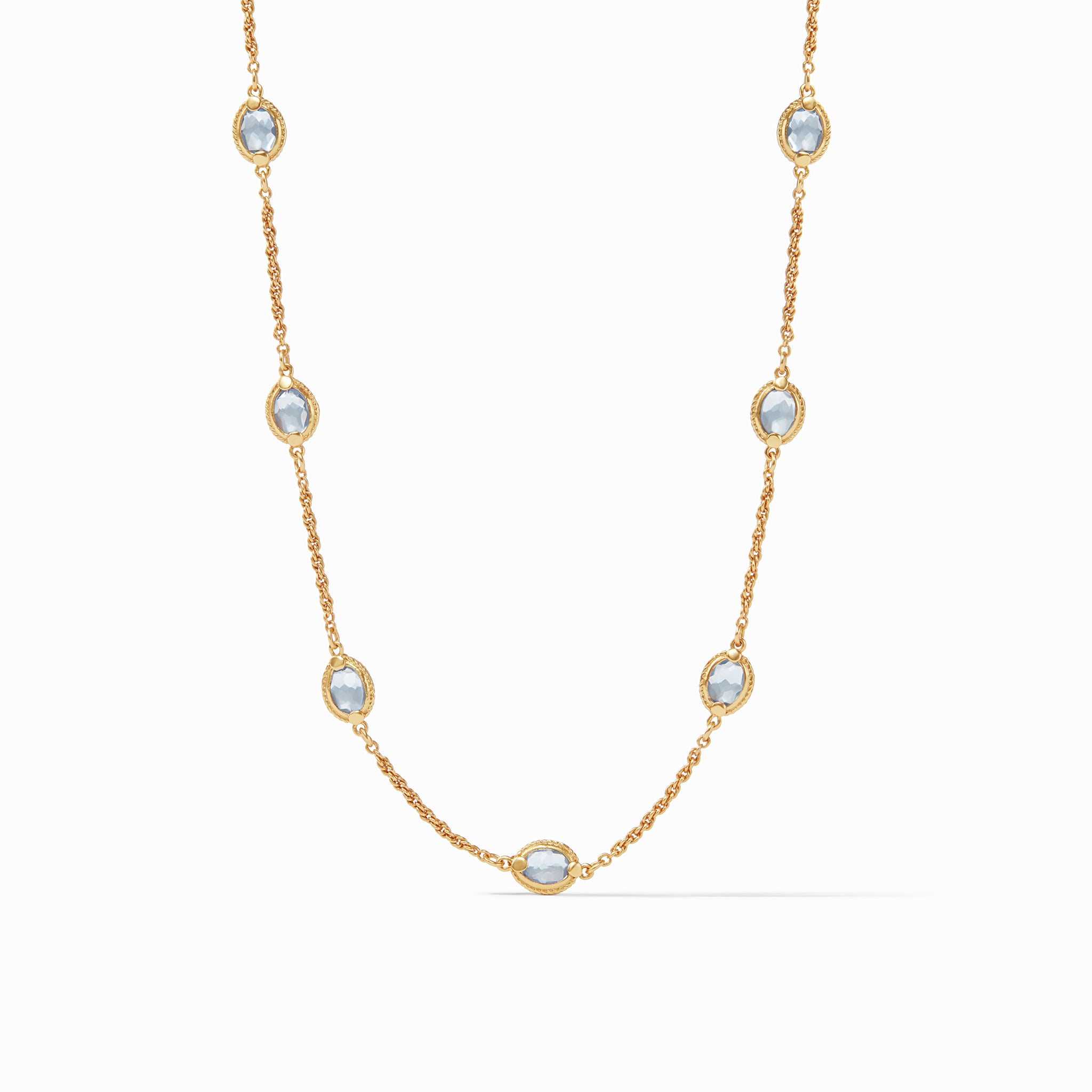 Chalcedony Blue, calypso collection, irresistibly iridescent, classics, necklace favorites