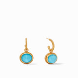 Iridescent Pacific Blue, New Spring Jewels, mothers day, classic earring, hoop drops