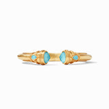 Cassis, a Julie Vos Hinge Cuff bracelet in the Iridescent Pacific Blue option