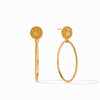 Julie Vos - Coin Statement Earring, Gold