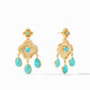 Julie Vos - Daphne Chandelier Earring, Turquoise Blue