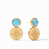 Iridescent Pacific Blue, classic earring