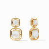 Julie Vos - Geneva Statement Earring, Iridescent Clear Crystal