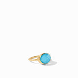 Iridescent Pacific Blue, resort, summer ring, classics