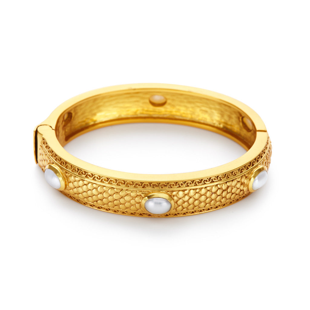 24K gold plated bangles by Julie Vos