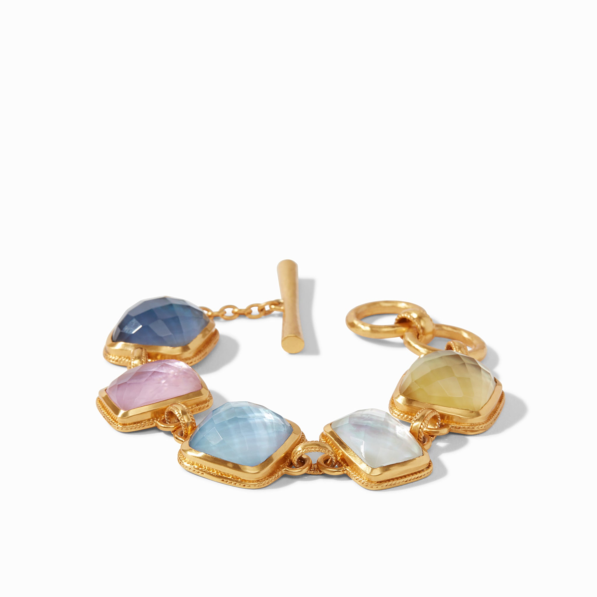 Iridescent Multi-Stone, luxe links, gifts, arm party, classics