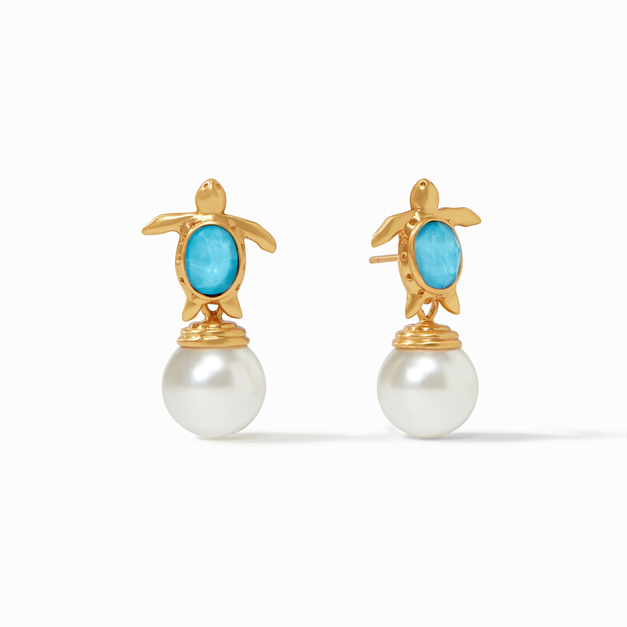 Turtle Pearl Drop Earring