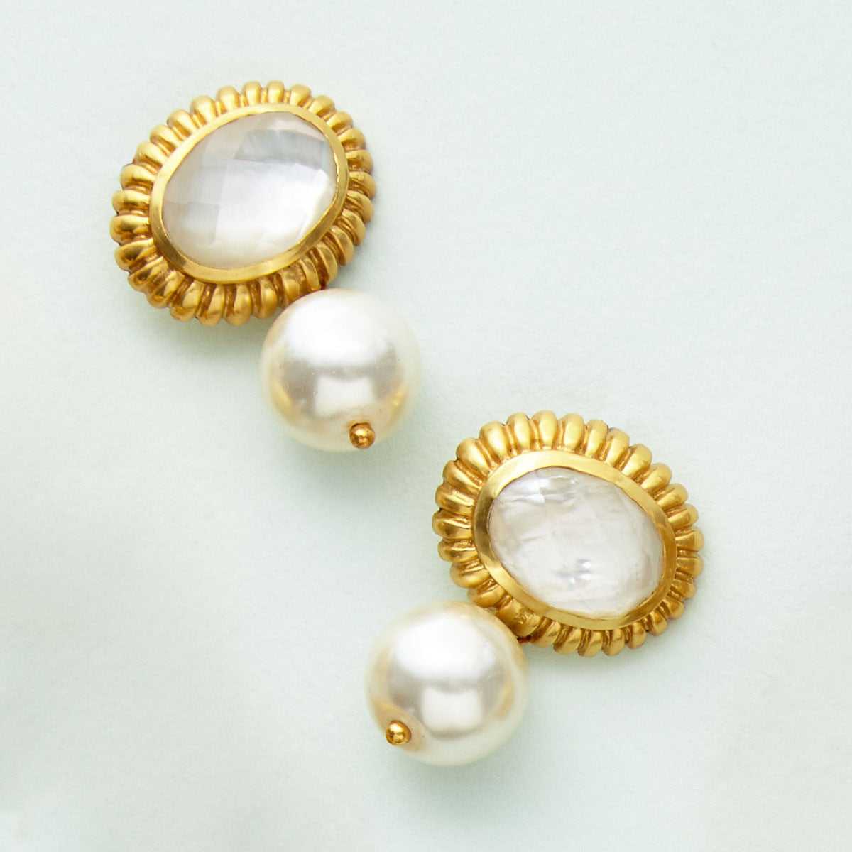Julie Vos - Byzantine Pearl Drop Clip-On,